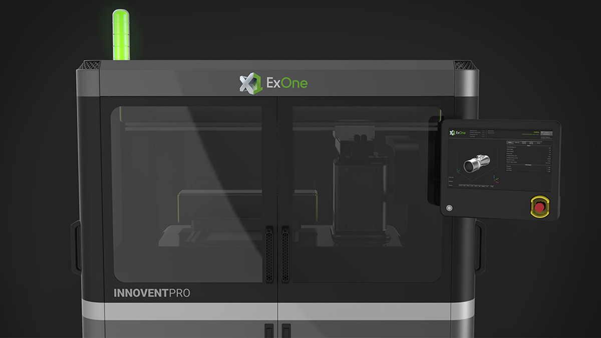 ExOne, InnoventPro metal 3D baskı makinesi konseptini açıkladı